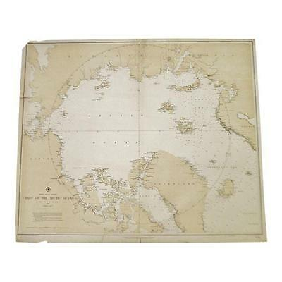 Authentic 1885 North Polar Regions Chart Of The Arctic Ocean No.963