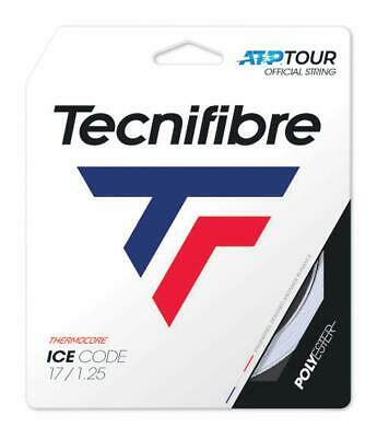 Tecnifibre Ice Code Tennis String - 1.25mm/17G - 12m Set - White - IceCode