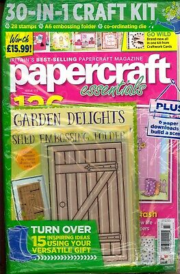 NEW PAPER CRAFT ESSENTIALS Magazine FLORAL MEHNDI Issue #168 FREE