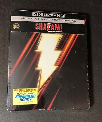 Shazam [ Limited Edition STEELBOOK ] (4K Ultra HD Blu-ray) NEW