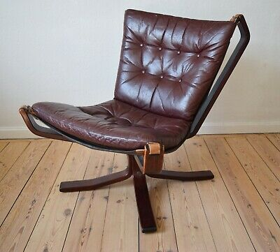 Mid-Century Low-Back Danish Falcon Chair, Sigurd Ressell. 1970s.