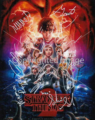 Stranger Things 2 Group Cast: 8.5x11 Signed Autographed Reprint RP Photo Picture