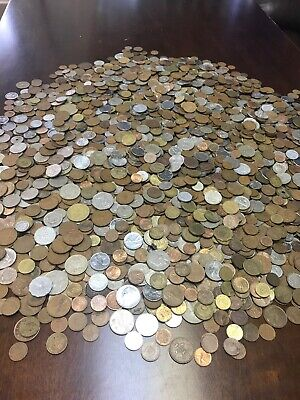 5 Pounds Lot of Mixed Foreign Coins Unsearched- Circulated