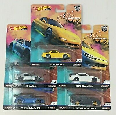 Hot Wheels 2019 Car Culture Street Tuners - Set Of 5 - Fpy86-956L - In Stock