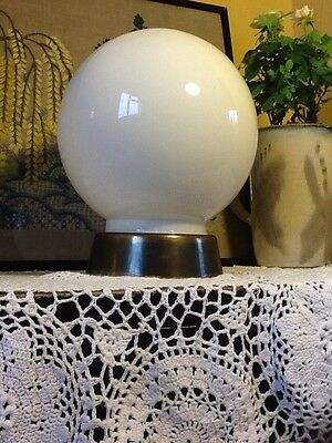 Stunning Vintage Deco Opaline Glass Globe Ceiling Light #3385