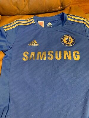 sports shoes fb653 fb7e7 ADIDAS MEN CHELSEA FC Football Club Jersey Samsung Blue Sz S ...