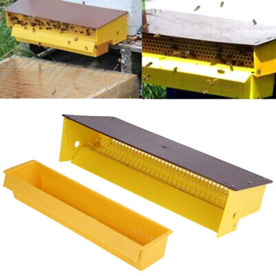 Plastic bee pollen trap collector for apiculture beekeeping tools beehive yeR>f