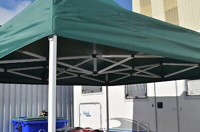 NEW TITAN® HEX 40 HEAVY DUTY POP UP GAZEBO STRONGEST FRAME ON EBAY GREEN 3m x 3m