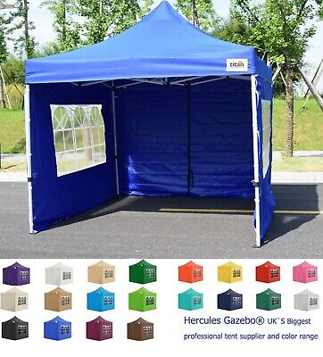 NEW TITAN® HEX 40 HEAVY DUTY POP UP GAZEBO STRONGEST  FRAME ON EBAY BLUE 3m x 3m