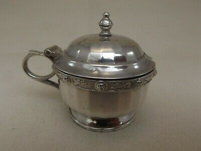 Lovely HM Silver Mustard Pot - Birm 1938 G&C - with liner - Not Engraved