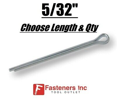 "5/32"" Diameter Cotter Pin Keys Split Zinc Plated (All Sizes)"