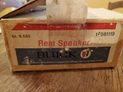 1966 1967 1968 1969 Buick Pontiac Olds Chevy NOS Rear Speaker Package GM #981119