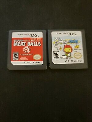 Nintendo DS Game Lot Cloudy With Chance Of Meatballs Super Scribblenauts