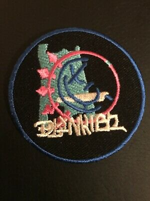 """Blink-182 Smile Logo 2.7"""" Inch Round Embroidered Iron On Patch"""