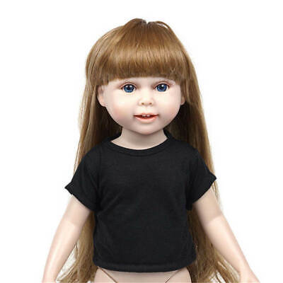 Cool Black Model Short Sleeve T-shirt Clothes For 18Inch Girl Low Price Dol H8Z6