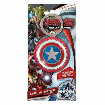 Avengers NEW * Captain America Shield Keychain * Colored Pewter Key Chain