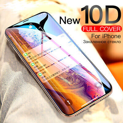 10D Curved Full Coverage Tempered Glass Screen Protector For iPhone X Xs Max Xr