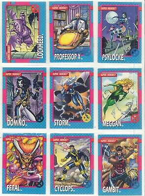 1992 Impel X-Men Marvel  Complete Set 1-100 Jim Lee