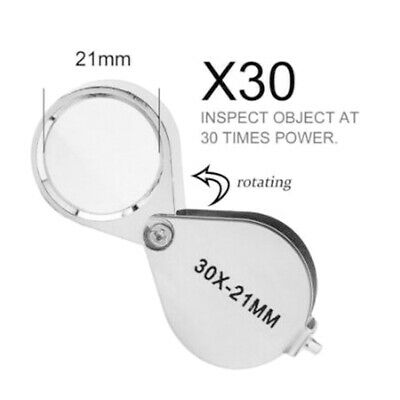 30 x 21mm Pocket Jewellers Eye Loupe Magnifier Jewelry Magnifying Glass Jewelers