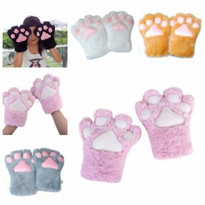 Cute Halloween Party Anime Plush Gloves Cat Kitten Paw Cosplay Costume