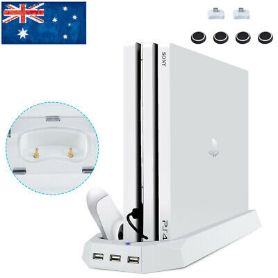For PS4 Pro Vertical Stand Cooling Fan Charging Dock Port Controller Charger AU