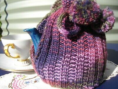 Tea Cosy Pattern ELECTRONIC  PATTERN 4 ply Ribbed Design ~Vintage Style~