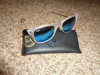 9ee00253b6c1 Ray Ban RB4210 646/55 Lightray Blue Mirror Sunglasses w/ Case, Made in