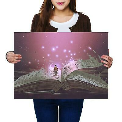 A2 | Magic Book Reading - Size A2 Poster Print Photo Art Student Gift #14061