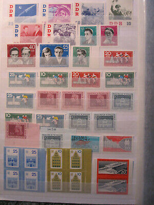East Germany DDR - accumulation of 79 stamps - MNH - duplication