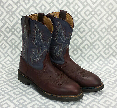 026c1d47050 ARIAT MENS SIERRA Saddle Work Boots Western Leather Upper Sz 11EE 11 Extra  Wide