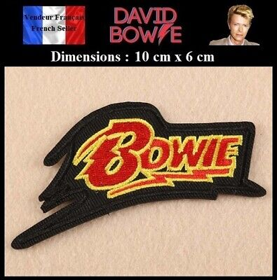 Écusson Brodé Thermocollant NEUF ( Patch Embroidered ) - David Bowie