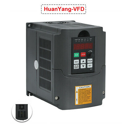 220V Inverter VFD CE Certificate Huanyang Drive Variable 2HP Frequency 1.5kw 7A