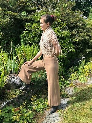 1970s FLARED Trousers Sand Size 28 Inch Waist