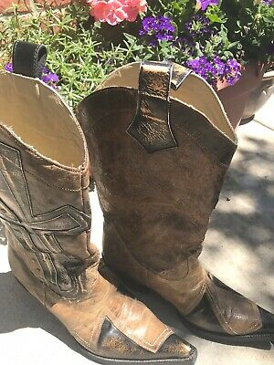 240ccb2fea6 STETSON WESTERN CROSS Cowboy Boots 8 USA New with Box Square Toe ...