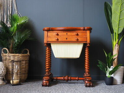 19th Century Anglo-Indian Mahogany 'Work Table' by J.M Edmond of Calcutta