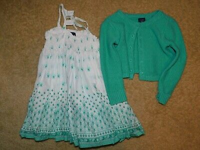 Baby Gap Girls 18-24 Months Sage Green Dress & Sweater Super Cute! EUC