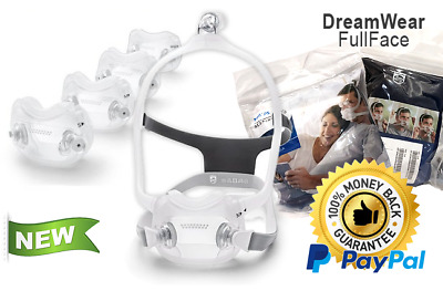 Philips Respironics DreamWear Full Face CPAP Mask with Headgear - Fit Pack