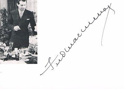 "Fred Mac Murray 1908-91 genuine autograph 4""x6"" card signed US actor"
