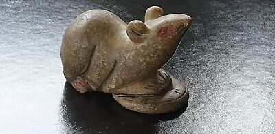 Ancient Romano/ egyptian Carved Stone Statue Figurine depicting Mouse