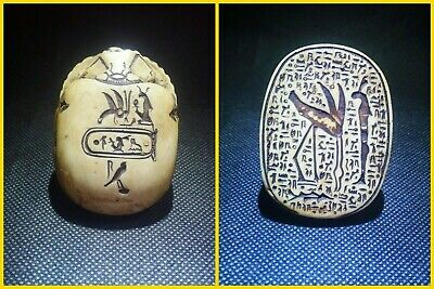 EGYPTIAN ANTIQUES ANTIQUITY Scarab Beetle Khepri Figure Sculpture 1549-1164 BC