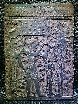 EGYPTIAN ANTIQUES ANTIQUITY Seti Dead Deified King Stela Stele 1290-1279 BC