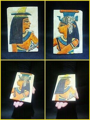 EGYPTIAN ANTIQUES ANTIQUITY Two Different Sides Drawings Stela 1549-1298 BC