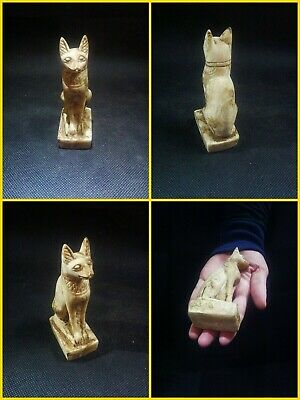 EGYPTIAN ANTIQUES ANTIQUITY Bastet Cat Statue Figure Sculpture 1549-1088 BC