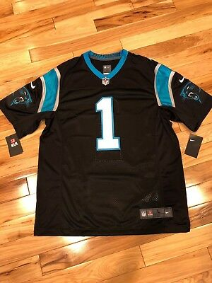 CAM NEWTON Carolina Panthers Nike LIMITED Black Jersey Stitched Sewn LARGE