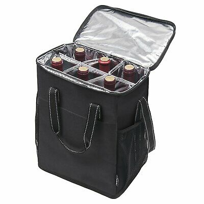 Kato Wine Carrier - Insulated Portable Wine Carry Cooler Tote Bag