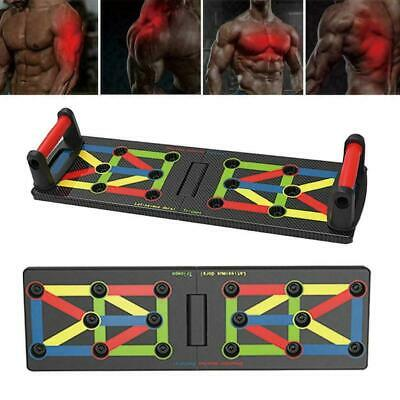 9in1 Push Up Rack Board System Fitness Workout Train Stands Body Gym HQ Exe O5S2