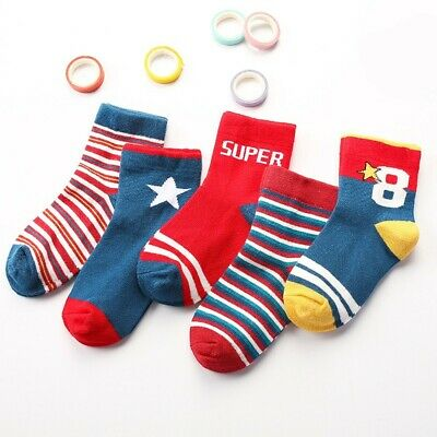 5 Pairs Winter Cotton Baby Socks Girls Boys Kids Rich Warm Socks 1-5 Years Old