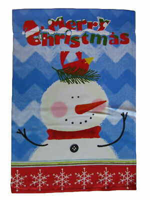 """Penguins Playing Winter Garden Flag 12/"""" x 18 Snowman Friends NEW Years Holidays"""