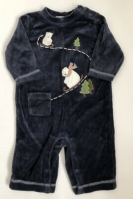Gymboree Nwt Christmas Holiday Penguin Polar Bear Owl Purple Pjs 18-24 M