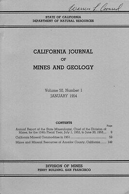 255 gold mines, Amador County, Calif, Mother lode, RARE 1st ed, BIG sep map, VG